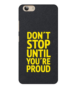Vivo Y53i Don't Stop Mobile Cover