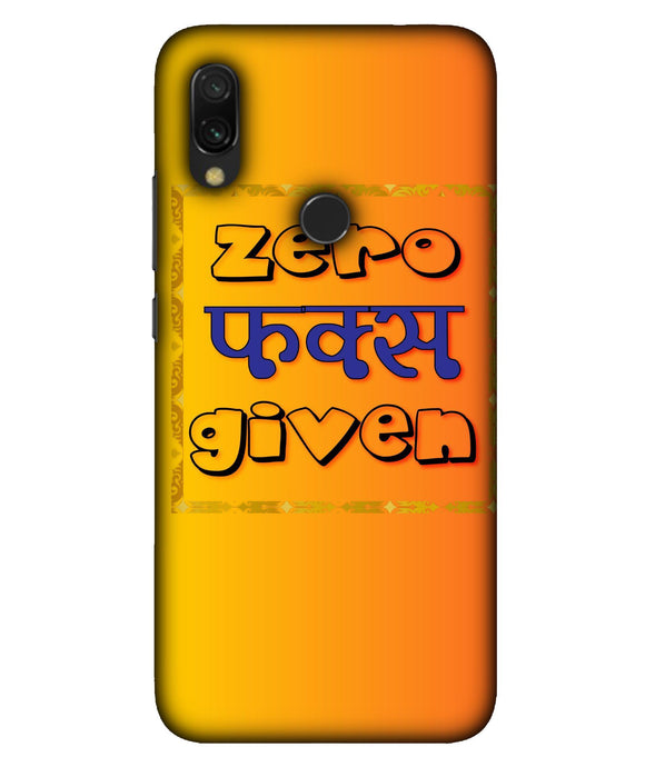 Redmi 7 Zero Fs Given Mobile Cover
