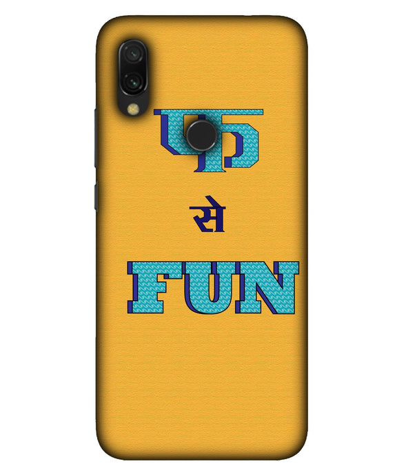 Redmi 7 Fun Mobile Cover