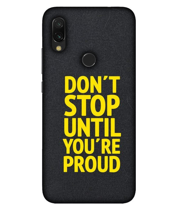 Redmi 7 Don't Stop Mobile Cover