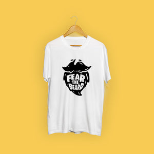 Fear The Beard White Casual T-Shirt