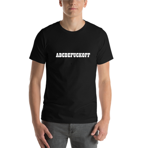 Black ABCD Casual T shirt