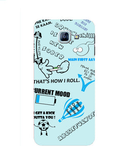Samsung Galaxy A8 Doodle mobile cover
