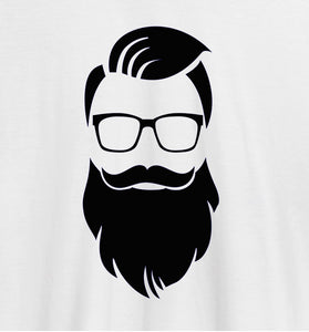 FunkyPocket Dude Beard White Casual T-Shirt