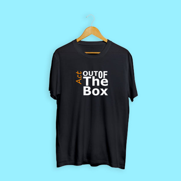 Act Out Of The Box Black Casual T-Shirt