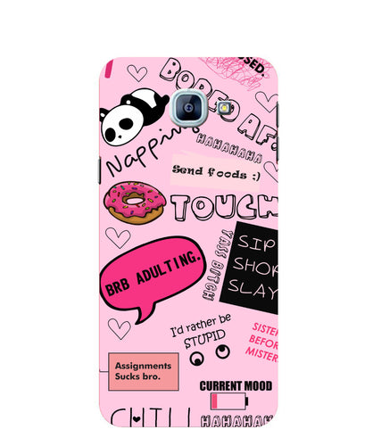 Samsung Galaxy A8 Doodles mobile cover