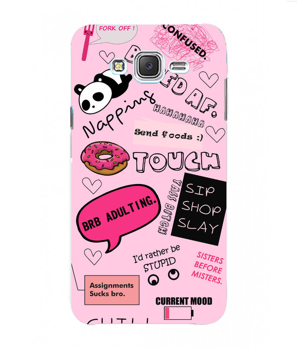 Samsung Galaxy J7 Nxt Doodles Mobile Cover