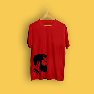 Man Beard Red T-Shirt