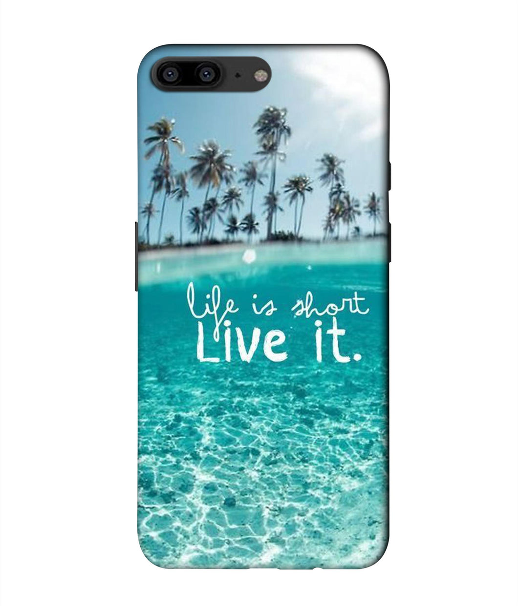 One plus 5 Live Life Mobile cover