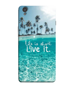 One Plus X Live Life Mobile cover