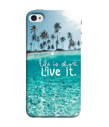 Apple Iphone 5 Live Life Mobile cover
