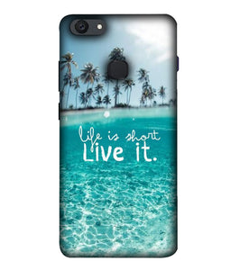 Vivo V7 Live Life Mobile cover