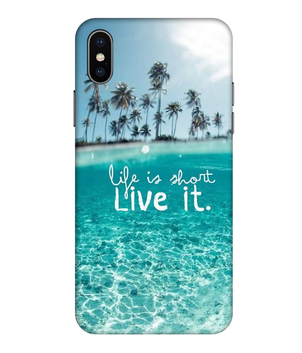 Apple Iphone Xs Max Live Life Mobile cover