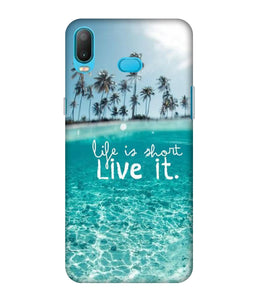 Samsung Galaxy A6 Plus Live life Mobile cover