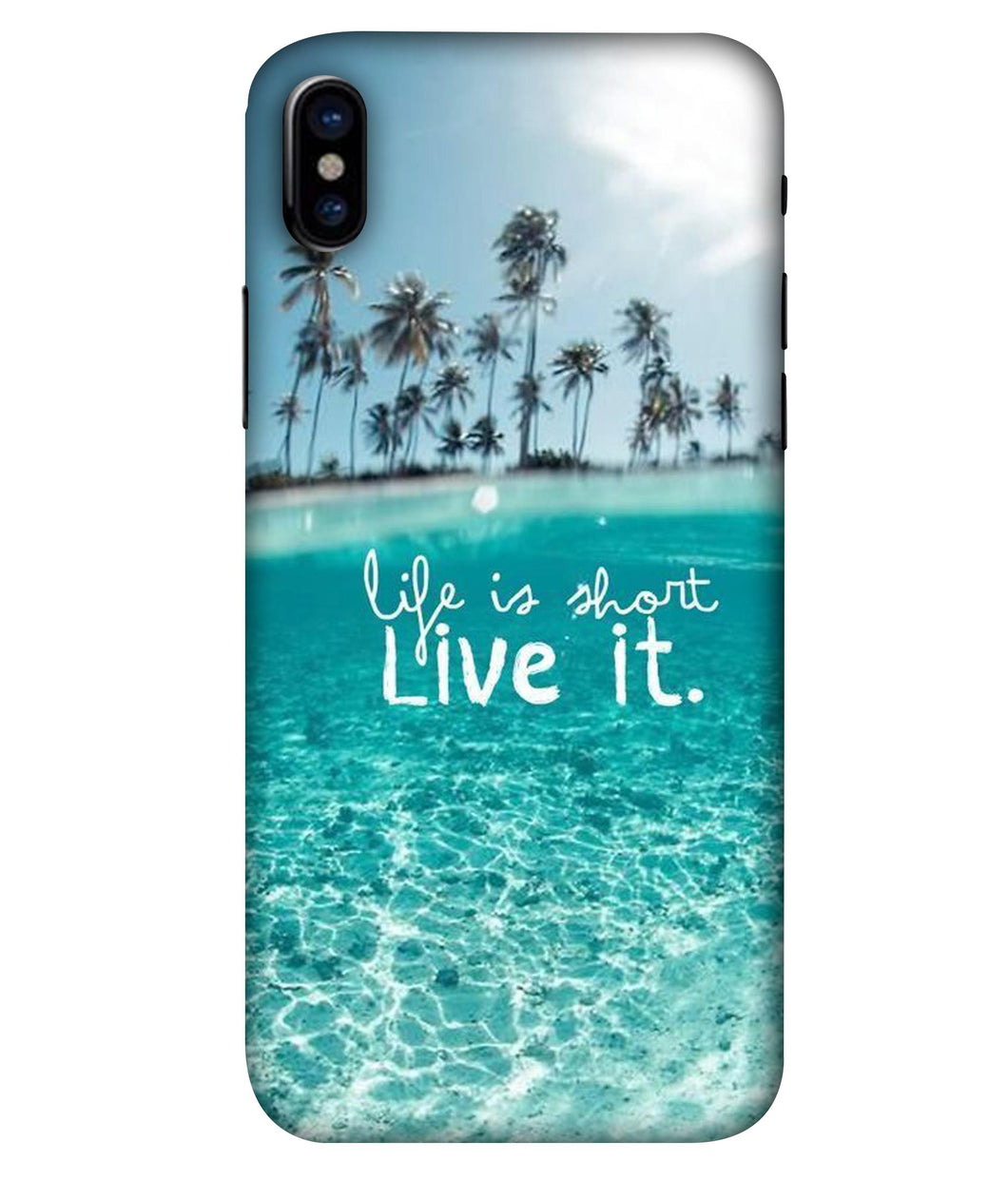 Apple Iphone X Live Life Mobile cover