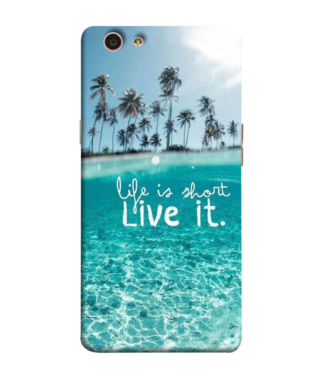 Oppo F1 S Live Life mobile cover