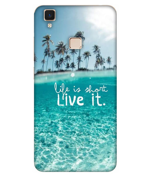 Vivo V3 Live Life Mobile cover