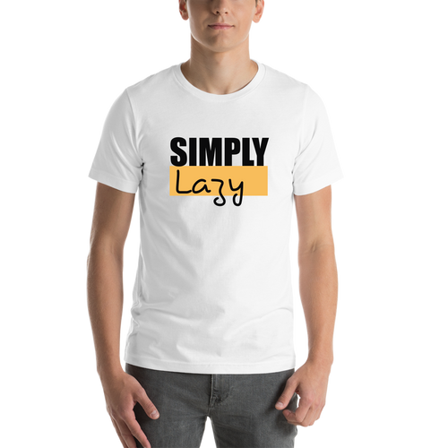 White Simply Lazy Casual T-shirt