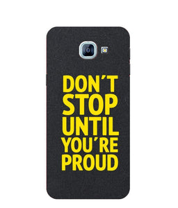 Samsung Galaxy A8 Don't Stop mobile cover
