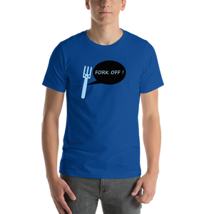 Blue Fork Off Casual T shirt