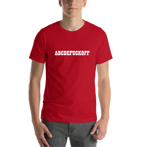 Red ABCD Casual T shirt