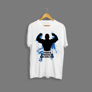 Power Strength Exercise Gym T-Shirt