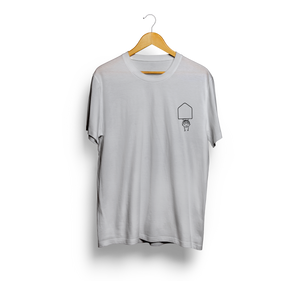 Upside Down Grey Casual Pocket T-shirt