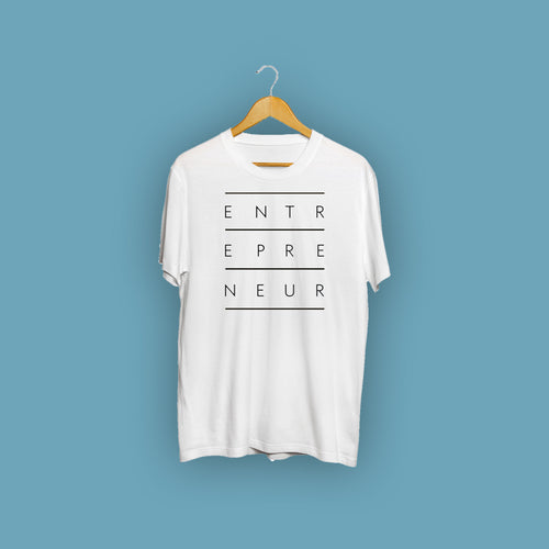 Entrepreneur White Casual T-Shirt