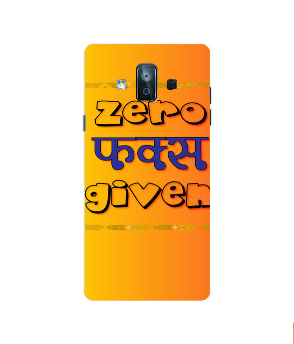 Samsung Galaxy J7 Duo Zero F's Given Mobile cover