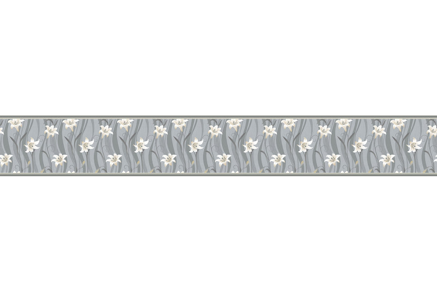 Stenska bordura Gray Flower  BR003