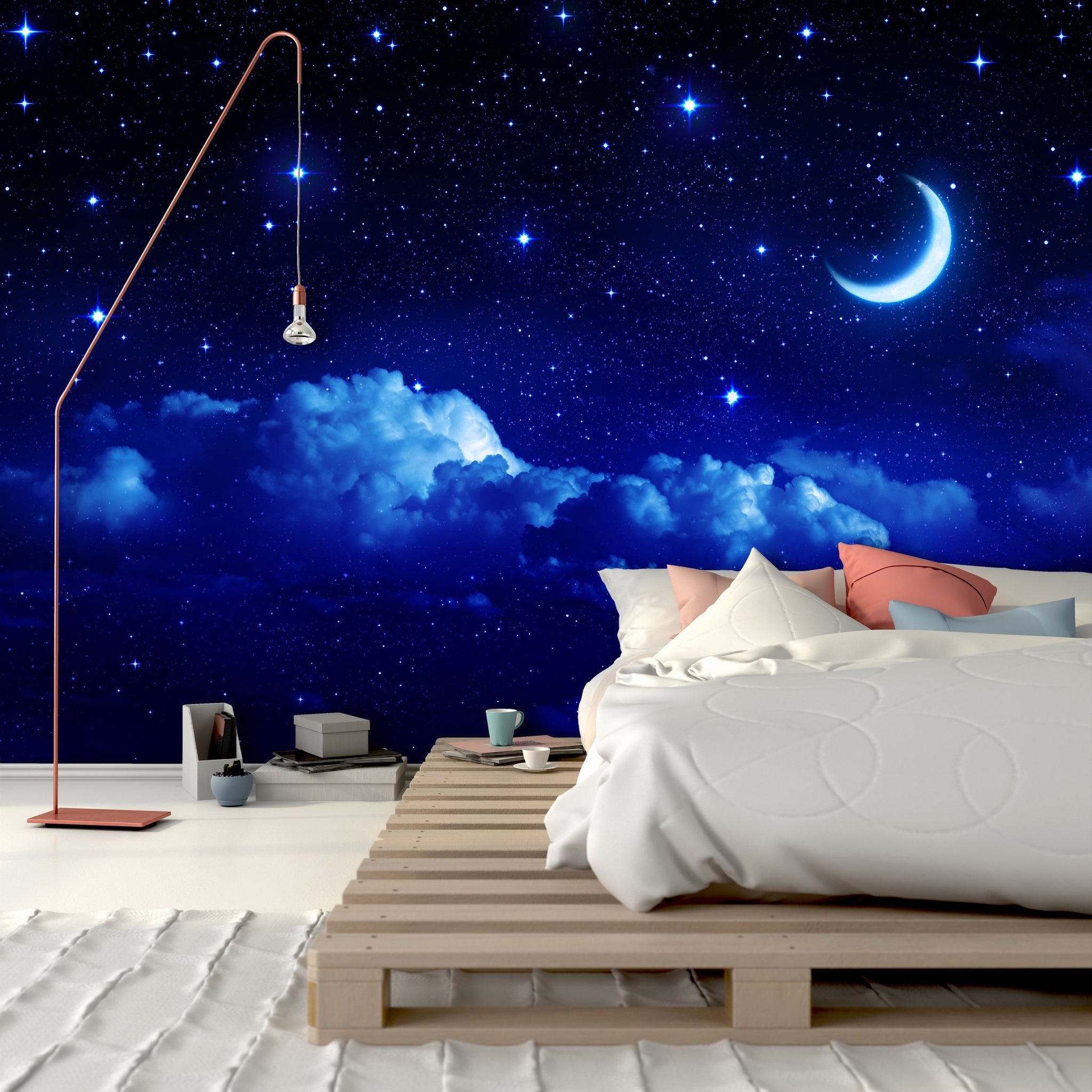 Samolepilne stenske tapete  Blue Night Sky SW304