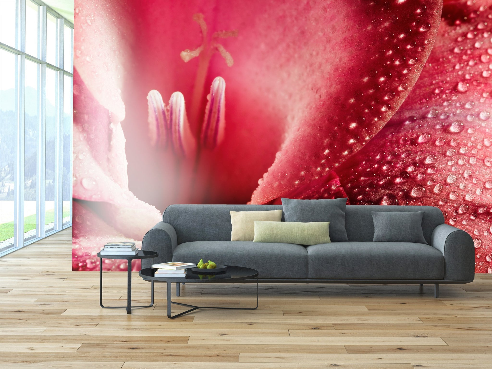 Samolepilne stenske tapete  Red flower SW265