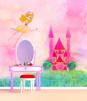 Samolepilne stenske tapete  Magic Fairy Tale Princess Castle SW165