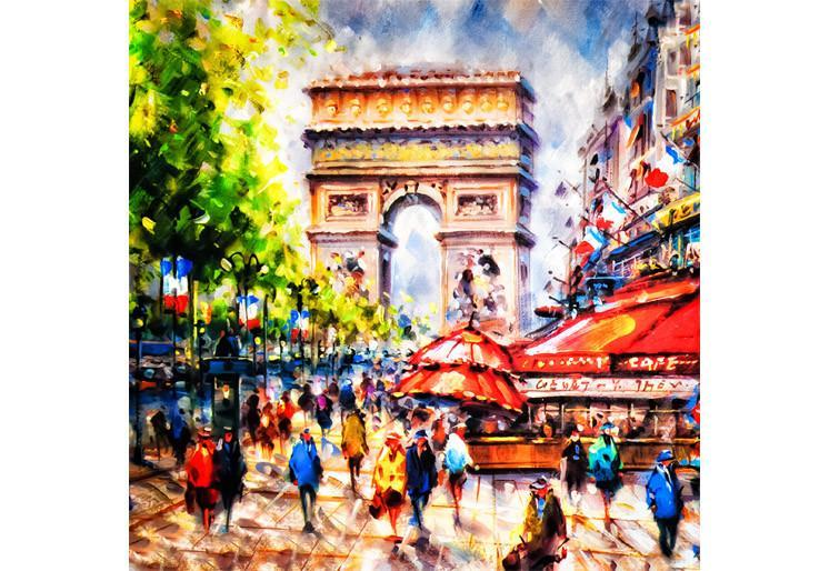Samolepilne stenske tapete  Colorful painting of Arc SW185
