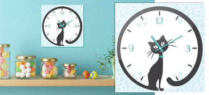 Stenske ure OClock - cat Clock
