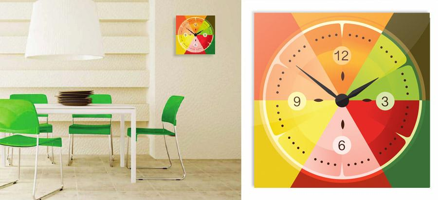 Stenske ure OClock - Fruit Clock