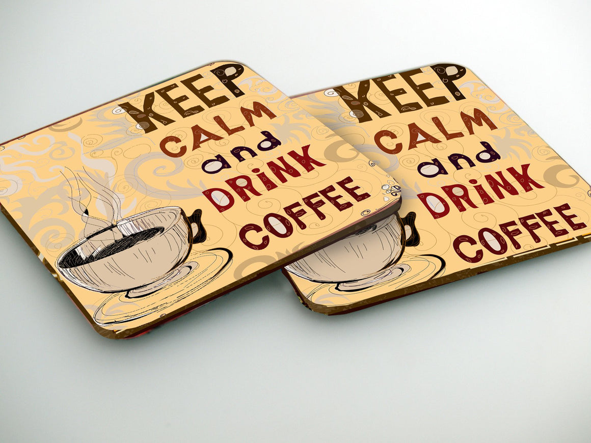 Podstavki za kozarce- Keep Calm Coffe CO006 - Life-decor.si