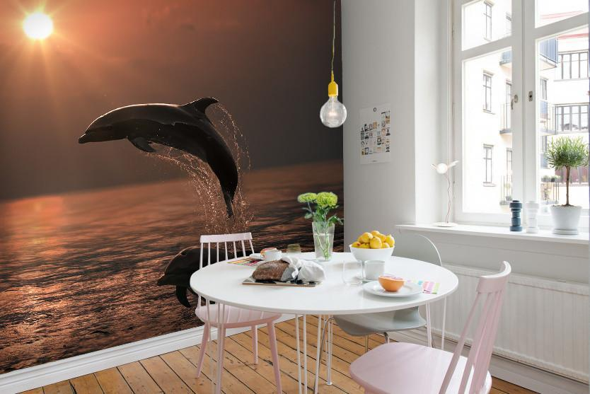 Samolepilne stenske tapete  Beautiful Dolphins SW398