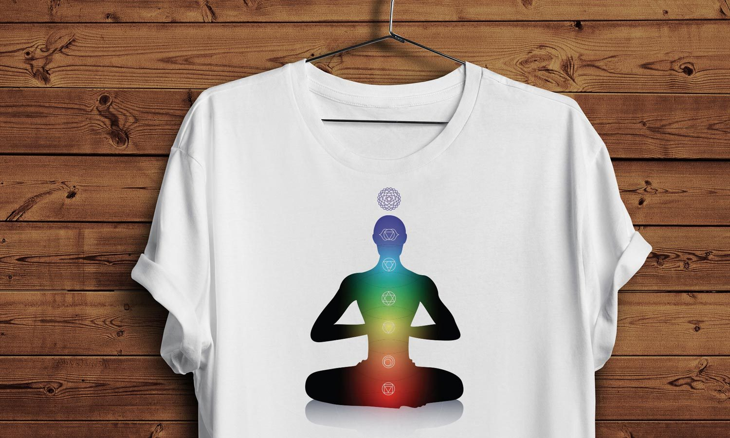 Top majice Man with light chakras, T-Shirt Moška, Ženska in Otroški model 150g.  TS008
