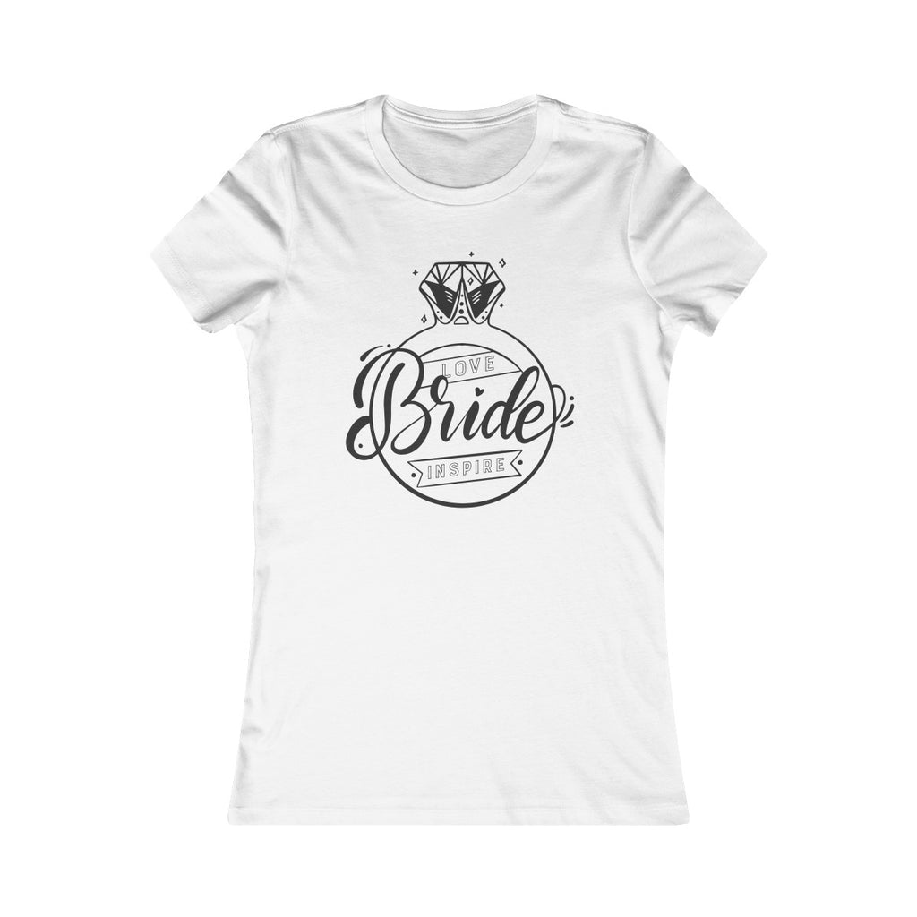 Bride Ring Inspire Love Fitted T - Burlap & Lace