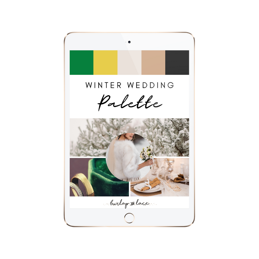 FREE Winter Wedding Colors Palette Inspiration