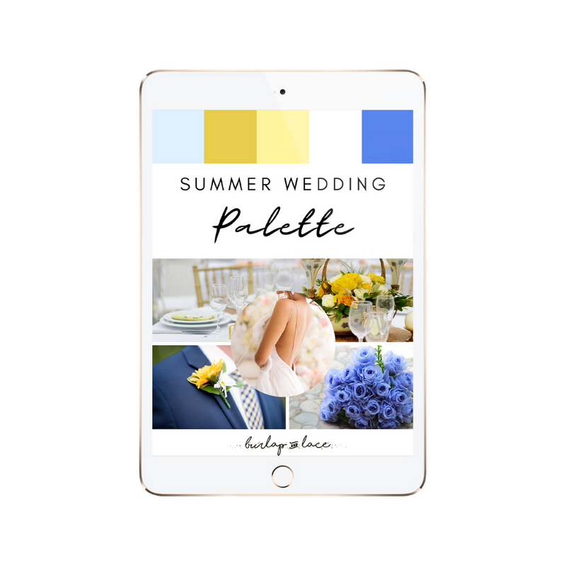 FREE Summer Wedding Colors Palette Inspiration - Burlap & Lace