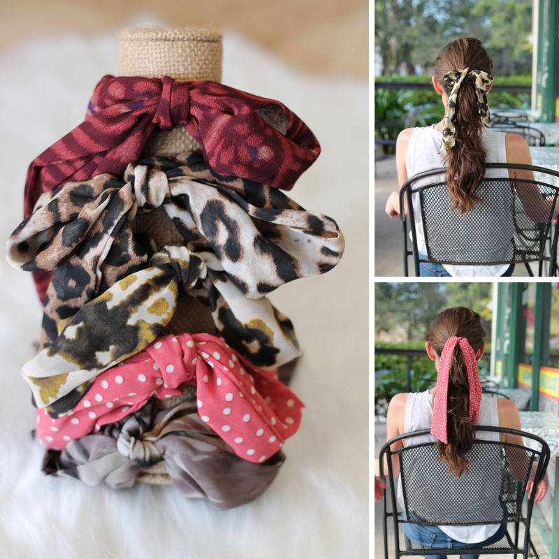 3 in 1 Chiffon Hair Scarves - Burlap & Lace
