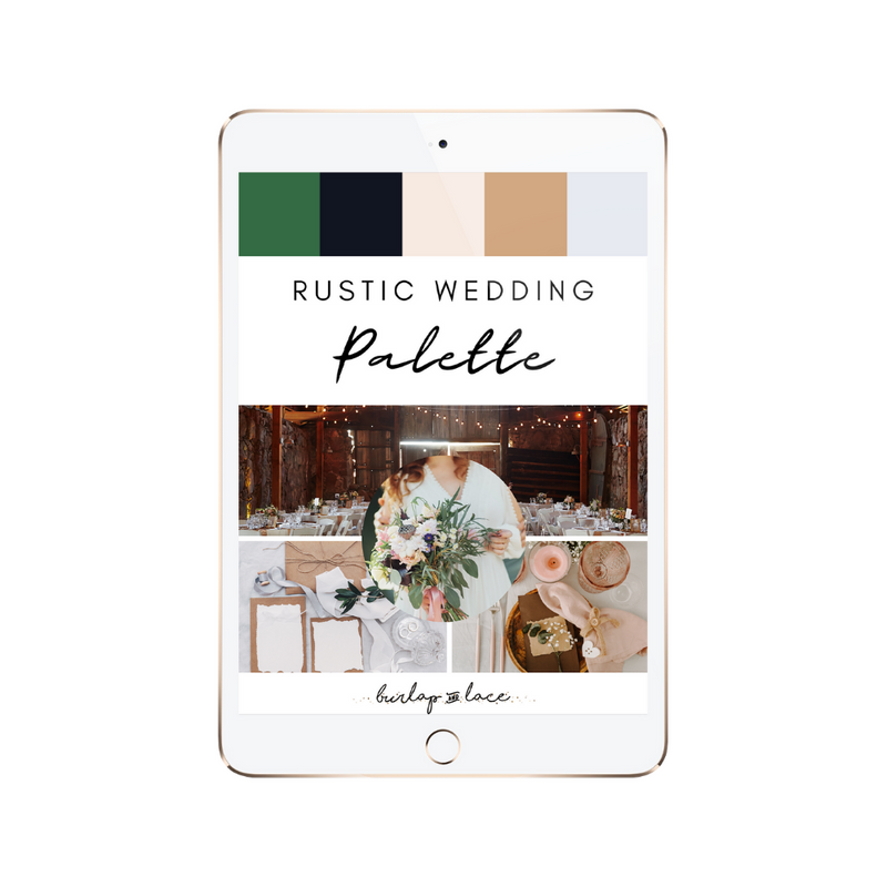 FREE Rustic Wedding Colors Palette Inspiration - Burlap & Lace