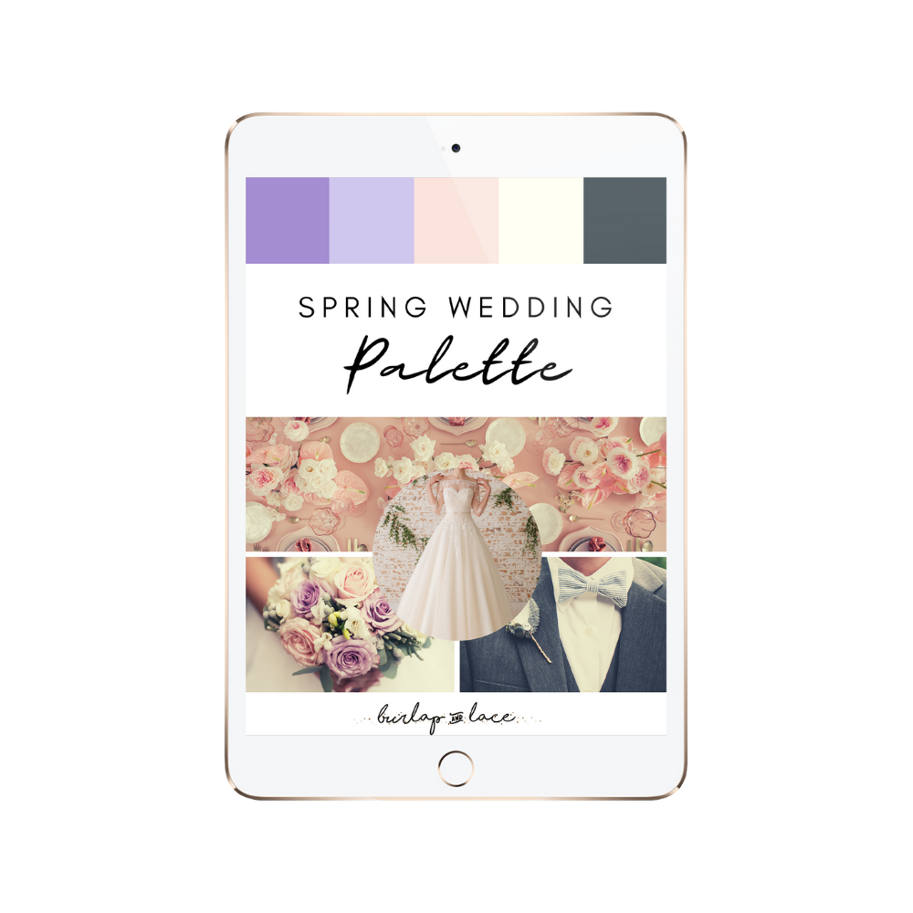 FREE Spring Wedding Colors Palette Inspiration