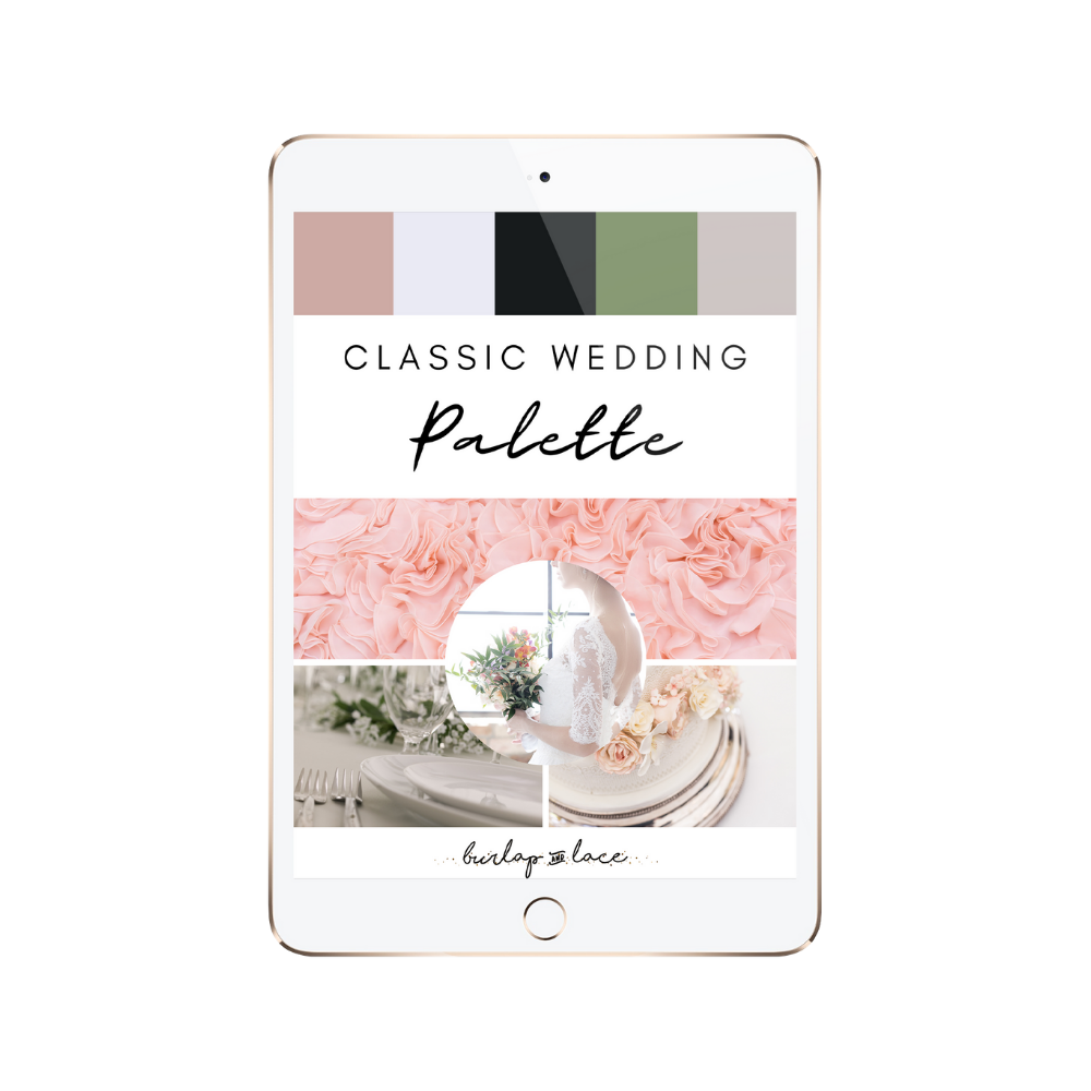 FREE Classic Wedding Colors Palette Inspiration