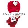 Beanie and Glove Sets - Burlap & Lace
