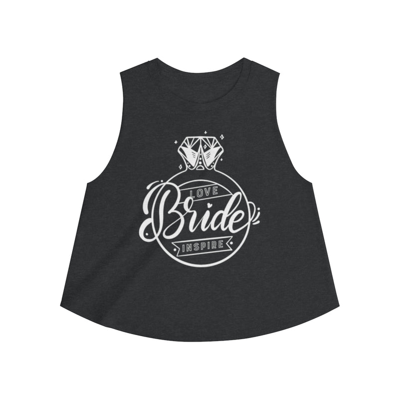 Bride ~ Inspire ~ Love (Crop Top) - Burlap & Lace