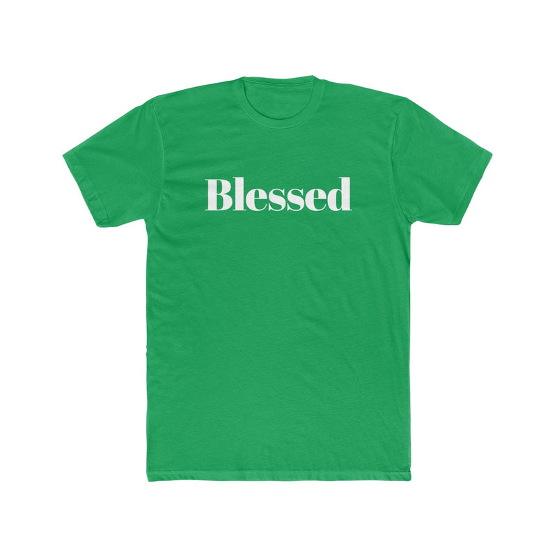 Blessed Men's Christmas Tee - Burlap & Lace