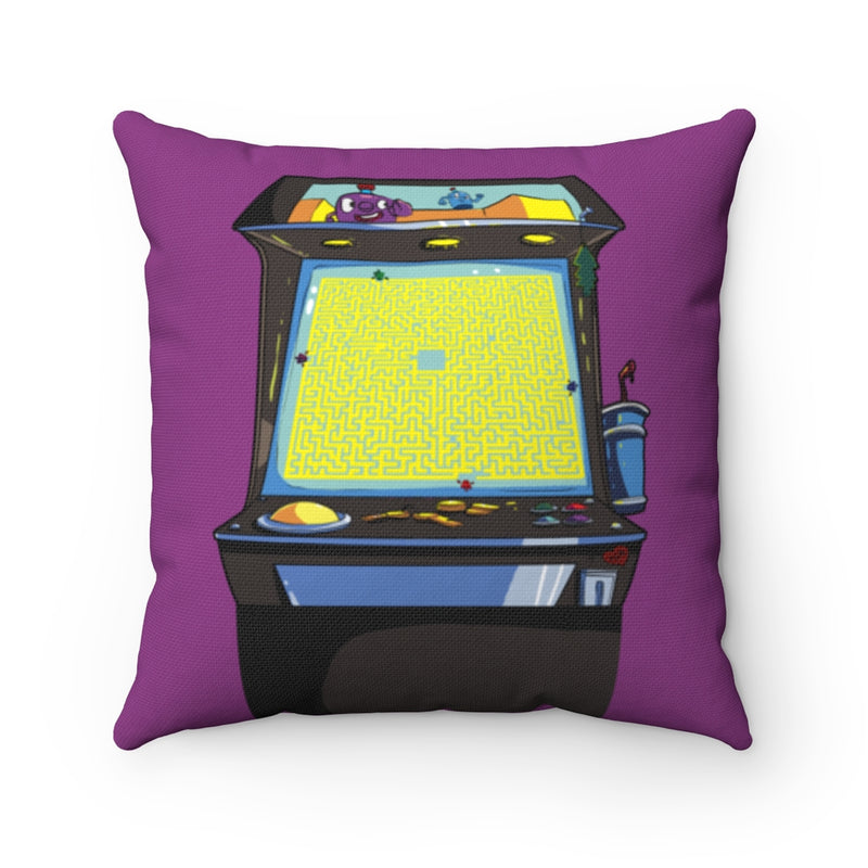Retro Arcade Maze Pillow